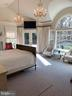 Master bedroom w/French doors to private deck - 7301 DULANY DR, MCLEAN