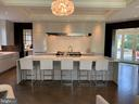FANTASTIC kitchen w/huge quartz island - 7301 DULANY DR, MCLEAN