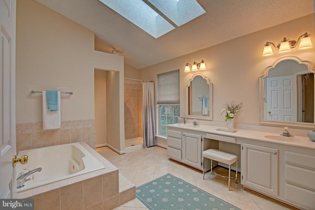 Master bath with skylight & Whirlpool - 12311 CLIVEDEN ST, HERNDON