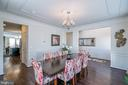 Oversized Formal Dining Room - 42660 PARADISE SPRING CT, BRAMBLETON