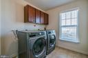 Upper Level Laundry Room with Cabinets, Window! - 42660 PARADISE SPRING CT, BRAMBLETON