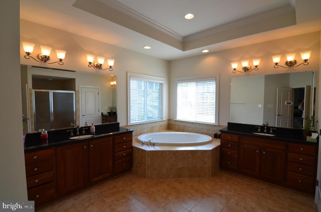 Master Bath  W/Double Vanities & Soaking Bathtub - 10339 SOUTHAM LN, OAKTON