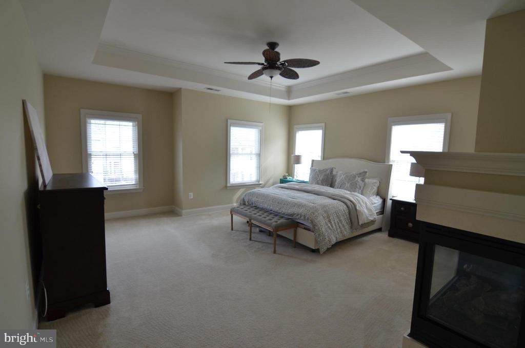 Master Bedroom with Gas Fireplace - 10339 SOUTHAM LN, OAKTON