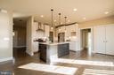 Kitchen with 3 decorative pendant lights - YAKEY LN, LOVETTSVILLE