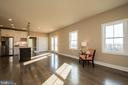 Kitchen has large extended island counter overhang - YAKEY LN, LOVETTSVILLE