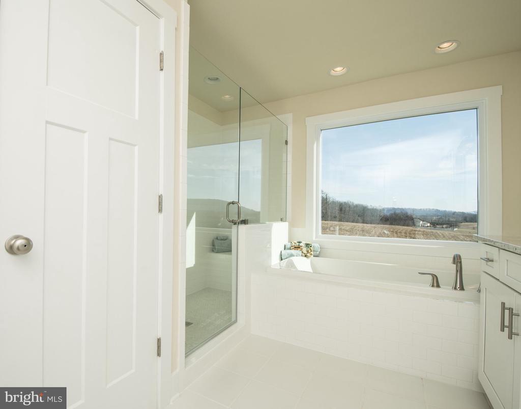 Master Bath, wow,  sun-filled to start a happy day - YAKEY LN, LOVETTSVILLE