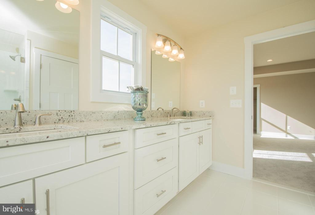 Master bathroom with HIS and HER Sinks - YAKEY LN, LOVETTSVILLE