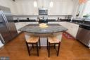 breakfast bar/kitchen island - 39 FORGE MILL RD, STAFFORD