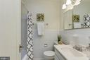Full hall bathroom with skylight - 3703 JENIFER ST NW, WASHINGTON