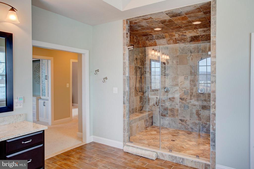Spa shower in the master bath - 18607 MONTAGUE PL, PURCELLVILLE