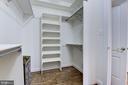Walk-in master closet #2 (Hers) - 18421 GREEN ISLAND TER, LEESBURG