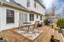 Access to large deck from family room. - 3 BRYANT BLVD, STAFFORD