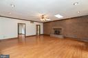 Family room with Fire Place - 13459 FOWKE LN, WOODBRIDGE