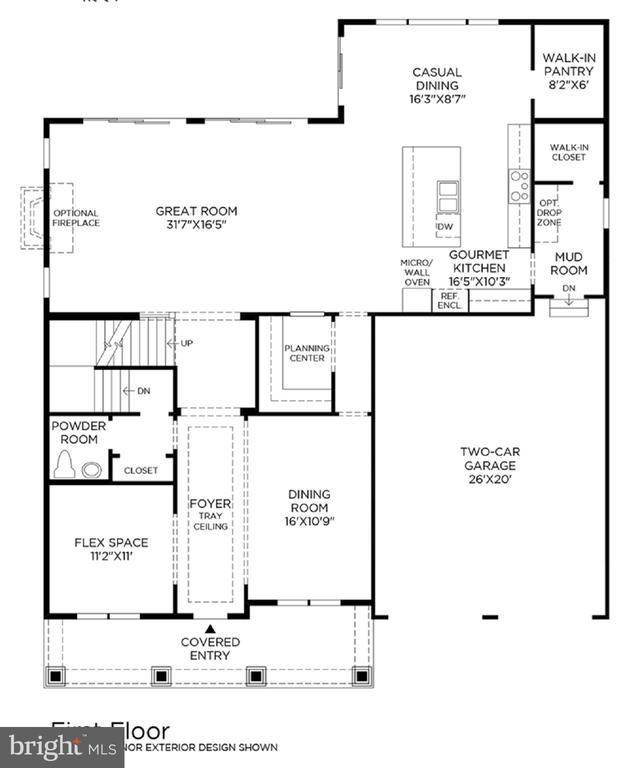 Annefield Main Level Floor Plan - 24462 CAROLINA ROSE CIR, ALDIE