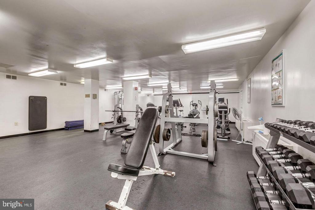 Exercise room - 2500 N VAN DORN ST #909, ALEXANDRIA