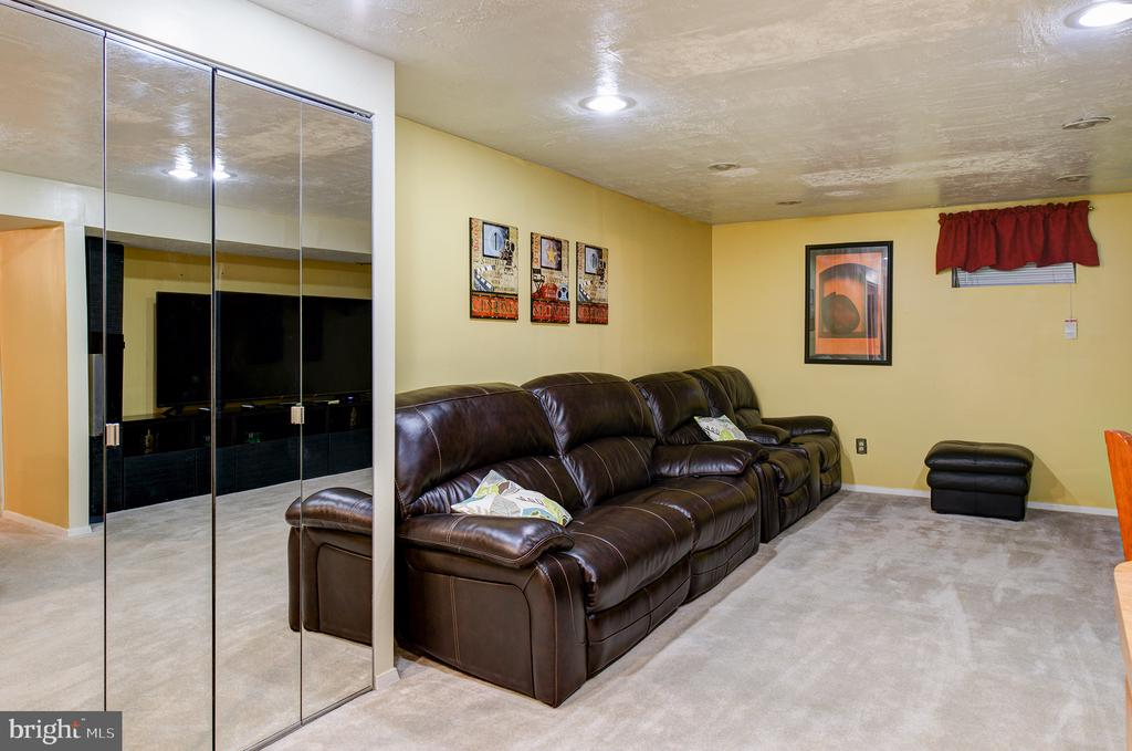 The lower level entertainment room - 3295 BLUE HERON DR, FALLS CHURCH