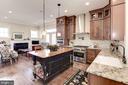 Gourmet Kitchen with custom island - 1307 N GEORGE MASON DR, ARLINGTON