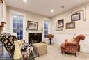 lower level family room with 2nd fireplace - 1307 N GEORGE MASON DR, ARLINGTON