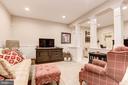 lower level family room - 1307 N GEORGE MASON DR, ARLINGTON