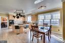 Spacious breakfast room - 42922 PALLISER CT, LEESBURG