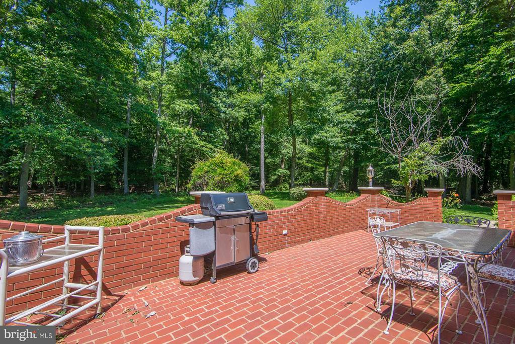 Large terrace for entertaining in the backyard - 5916 HALLOWING DR, LORTON