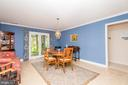 Casual Dining or Breakfast Room leads to terrace - 5916 HALLOWING DR, LORTON