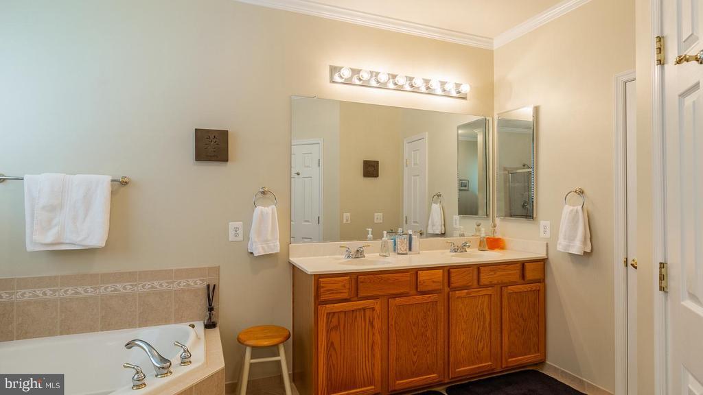 Master Bath Double Vanity - 17473 FOUR SEASONS DR, DUMFRIES