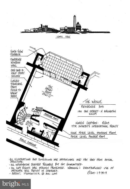 Entrance Level Floor Plan - 1401 N OAK ST N #305, ARLINGTON
