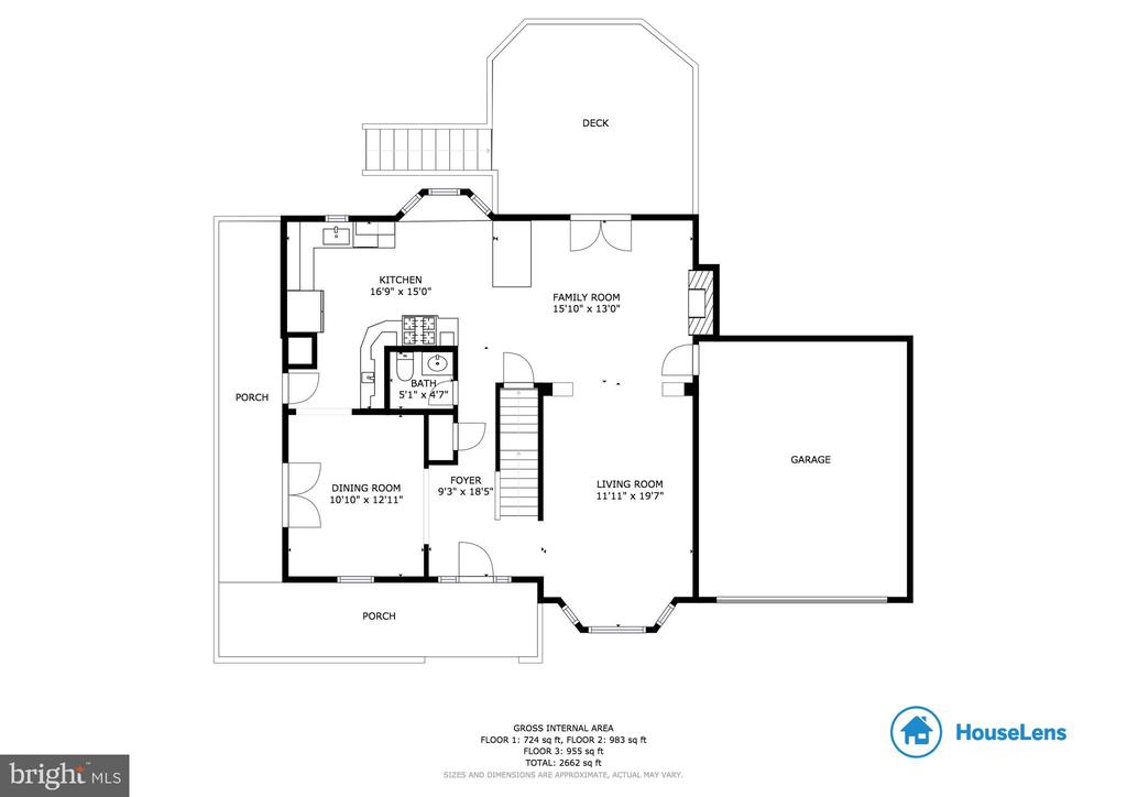Main level showing the open concept  great space! - 549 DRUID HILL RD NE, VIENNA