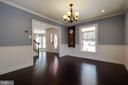 Dining room is roomy and ready for guests - 549 DRUID HILL RD NE, VIENNA