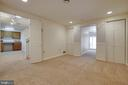 Media room  with 2 closets for storage! - 549 DRUID HILL RD NE, VIENNA