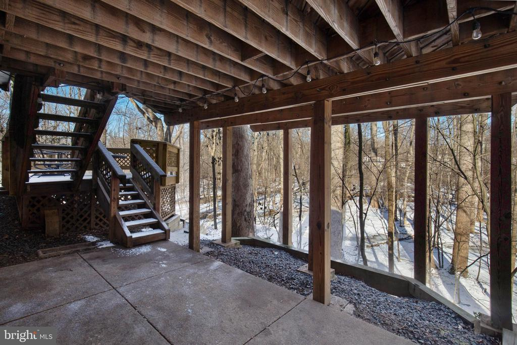 Covered patio has amazing views as well - 549 DRUID HILL RD NE, VIENNA