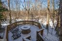 Private, quiet amid nature describes your 2nd deck - 549 DRUID HILL RD NE, VIENNA