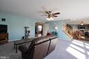 Family Room opens to Kitchen area! - 6 GRANITE CT, FREDERICKSBURG