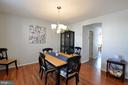 Separate Dining Room to the left as you enter home - 6 GRANITE CT, FREDERICKSBURG