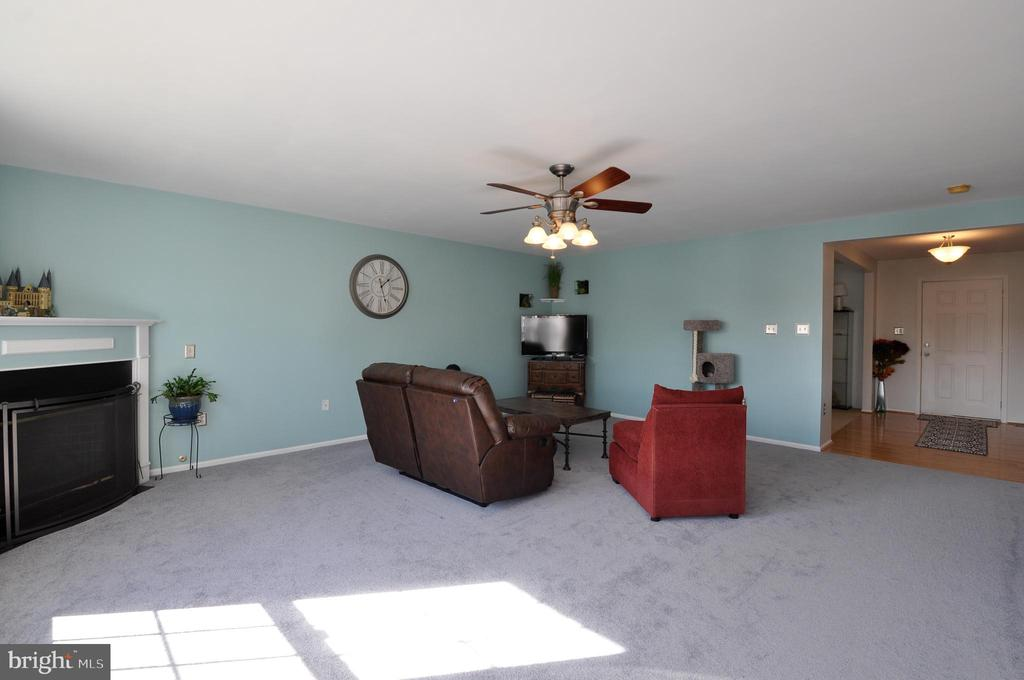Gas Fireplace and NEW carpeting  in Family Room! - 6 GRANITE CT, FREDERICKSBURG