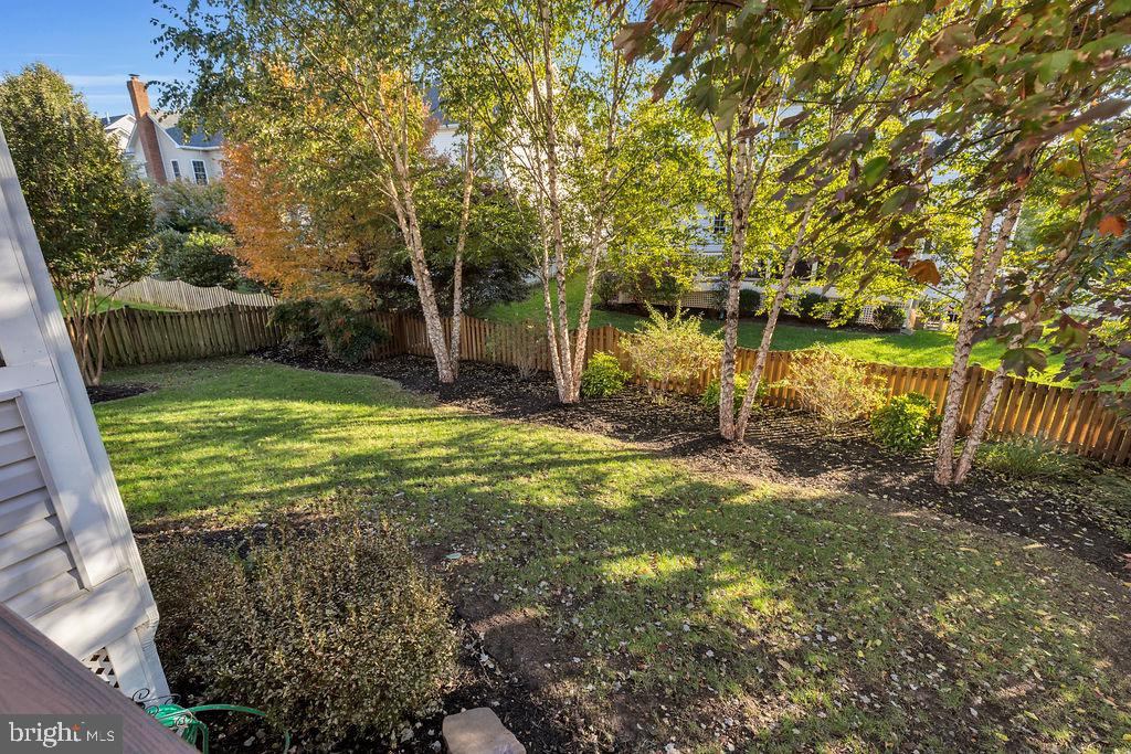 Mature trees for privacy - 42445 MEADOW SAGE DR, BRAMBLETON