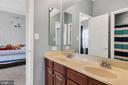 Jack-n-jill bathroom - 42445 MEADOW SAGE DR, BRAMBLETON