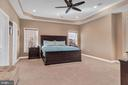 Master bedroom with tray ceiling - 42445 MEADOW SAGE DR, BRAMBLETON