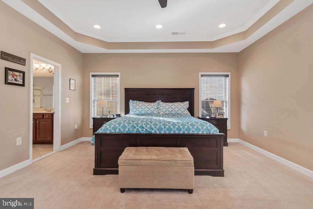 Spacious & sunny master bedroom - 42445 MEADOW SAGE DR, BRAMBLETON