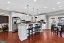 Updated kitchen includes new granite countertops - 42445 MEADOW SAGE DR, BRAMBLETON