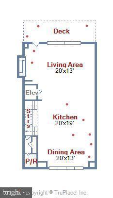 2nd Floor Floorplan - 5402 MERRIAM ST, BETHESDA