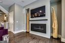 Great Room Fireplace - 5402 MERRIAM ST, BETHESDA