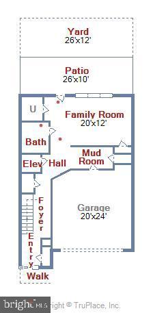 1st Floor Floorplan - 5402 MERRIAM ST, BETHESDA