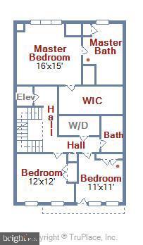 3rd Floor Floorplan - 5402 MERRIAM ST, BETHESDA