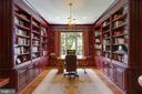 Classic Library with two walls of cherry cabinetry - 12970 WYCKLAND DR, CLIFTON