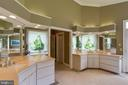 Luxurious Master Bath w/ views of the pool - 12970 WYCKLAND DR, CLIFTON