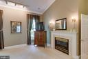 Main Level Master Bedroom w/ gas fireplace - 12970 WYCKLAND DR, CLIFTON