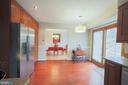 Kitchen DR - Patio door to large patio - 7126 BRIDGEPORT CT, SPRINGFIELD