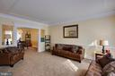 Great open flow from living room to dining room - 3713 STONEWALL MANOR DR, TRIANGLE